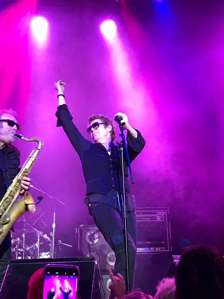 Richard Butler and The Psychedelic Furs onstage at the Fillmore Auditorium on July 25.
