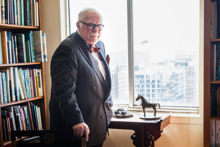 Photograph of former State Librarian Kevin Starr by Andrew Burton.