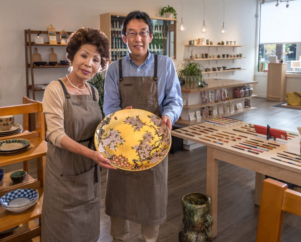 Mariko Suzuki and Tomoaki Takashima and their treasures at Sanko.