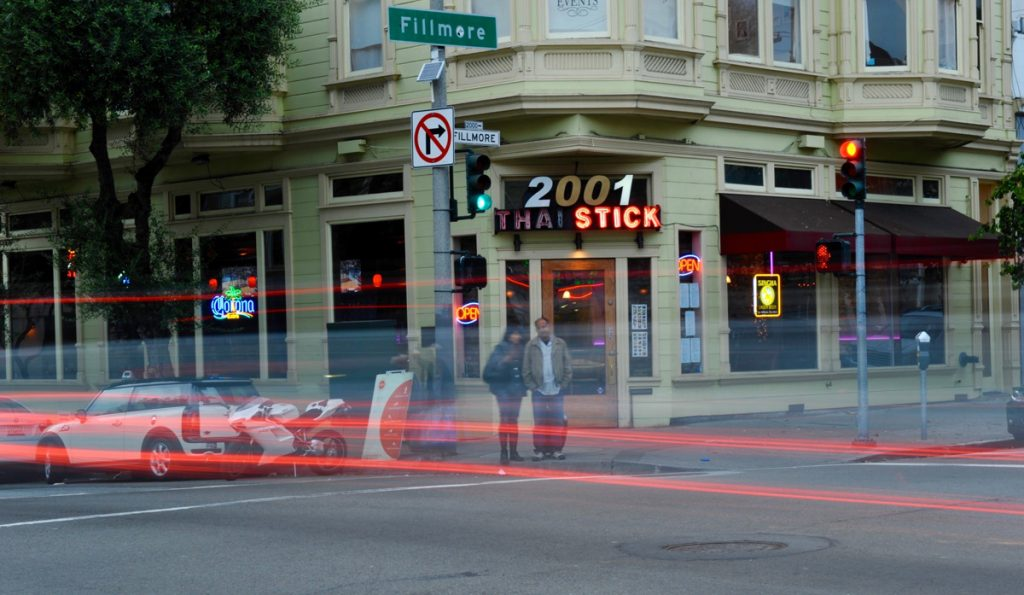 Photograph of the Thai Stick at Fillmore and Pine by Daniel Bahmani.
