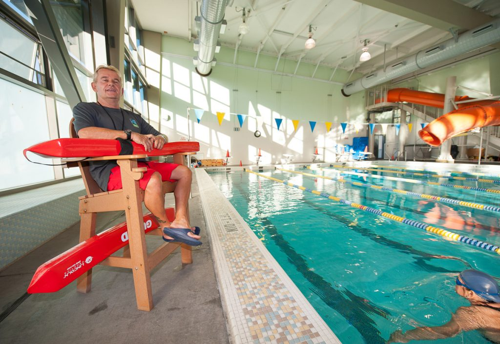 Chuck Louden is a longtime lifeguard at the neighborhood's Hamilton Recreation Center.