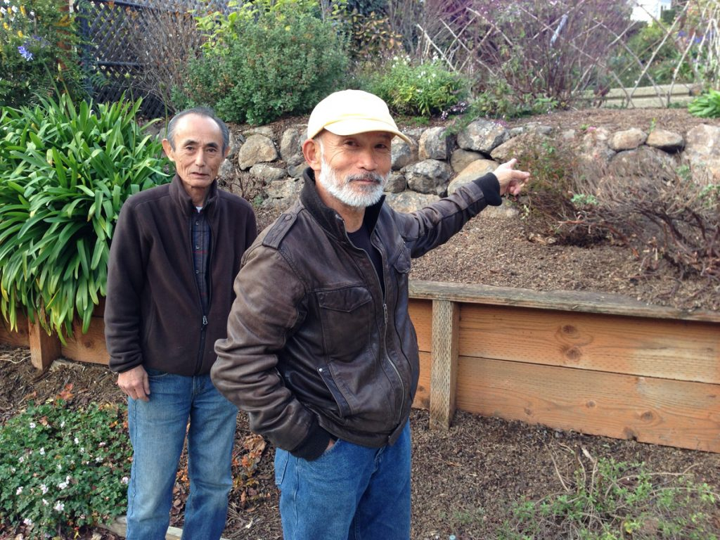 Renowned gardeners Shigeru Namba (right) and Isao Ogura are to create the Zen garden.